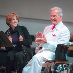 Judy with her teenage idol, Pat Boone